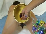 Elmers Wife Anal fisting marbles 1